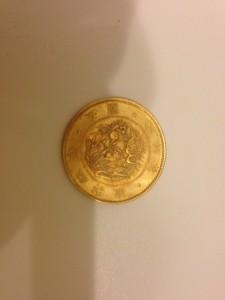 旧5円金貨の画像です