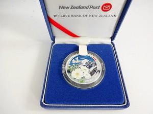 カラーコイン ニュージーランド 1ドル銀貨
