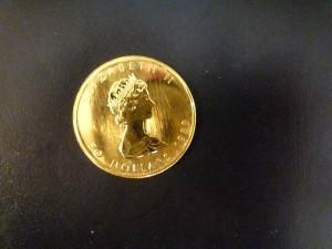 エリザベス金貨の画像です
