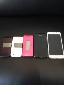 壊れた携帯