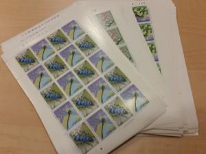 切手シートを買取しました。