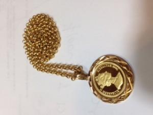 金貨,K18,K24,コイン,ネックレス,金