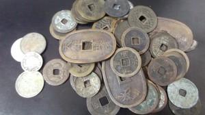古銭,寛永通宝,天保通宝,穴銭