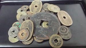 古銭、寛永通宝、天保通宝