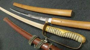 軍刀,2本