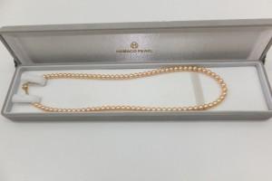 貴金属K18金金具パールネックレス