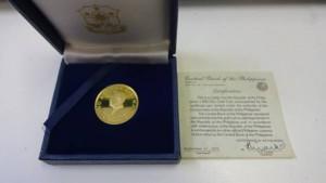 フィリピン 1975年 1000ペソ 金貨 プルーフ