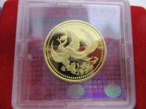 日野市で 天皇陛下御在位十年1万円 金貨 の高価買取は大吉多摩平店です
