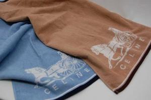 中央区のお客様からCELINE(セリーヌ)のブランドタオルを買取ました。大吉七隈四ツ角店(城南区)