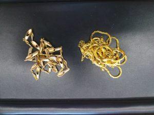 金(K18)のネックレスを買取ました。福山蔵王店