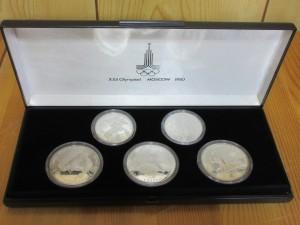 モスクワオリンピック銀貨,銀貨,メダル,シルバーメダル,銀メダル,記念メダル,出張買取