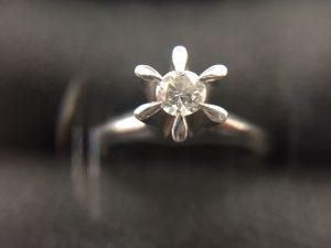 ダイヤモンドリング買取りました。福山市、大吉サファ福山店です。