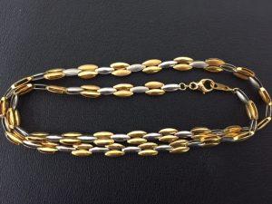 金とプラチナのネックレスを買い取りました! 大吉サファ福山店です。