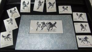 中国切手 1978 T28 10種完 小型シート 徐悲鴻 奔馬