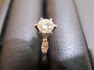 水戸市のお客様よりダイヤモンドリングをお買取しました!