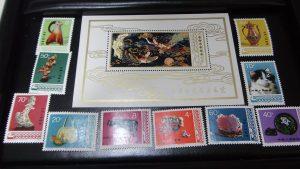 中国切手 1978 T29 10種完 工芸美術小型シート