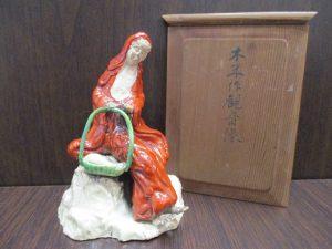 小倉南区、大吉サニーサイドモール小倉店で買取りました木米作 観音像の画像です