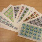 切手の映像です。