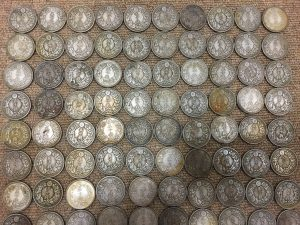 大量に古銭の近代銀貨を買取させて頂いた大吉羽曳野店です!