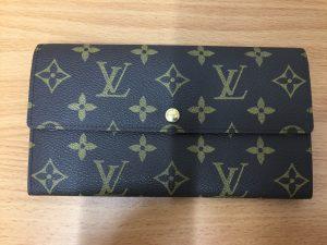 ヴィトンの長財布、ポシェットポルトモネクレディを買取させて頂いた大吉羽曳野店です!