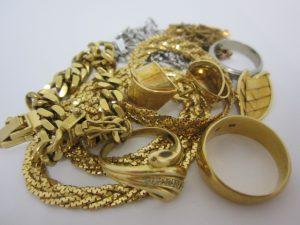 大吉本八幡店、K18・純金ネックレス、リングをお買取り致しました!