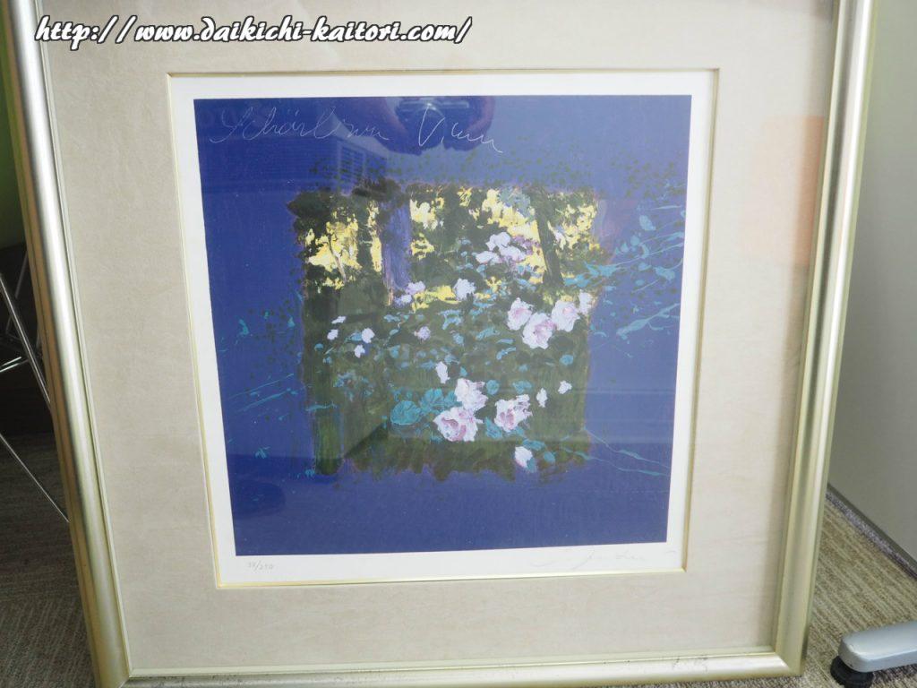 油絵 トレンツ・リャド ジヴェルニーの睡蓮II NENUFARES GIVERNY II 絵画 美術品 買取 浜松市