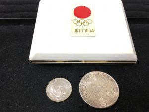 福岡で買取オリンピック記念硬貨 1000円硬貨と100硬貨のセットです!!