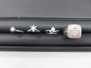 貴金属のダイヤモンドリングをお買取りさせて頂きました。