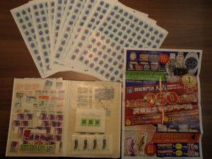 切手シート・バラ切手・記念切手買取!切手の数は数百枚単位!姶良市の大吉タイヨー西加治木店より。