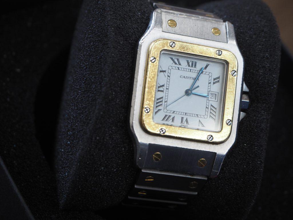 カルティエ( Cartier) 時計 サントス(AC 23.80 gr OR 0.750 4.05)自動巻き ブランド