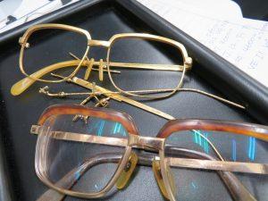 貴金属 K18 メガネのフレームをお買取りさせて頂きました。
