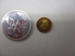 世界一小さい金貨