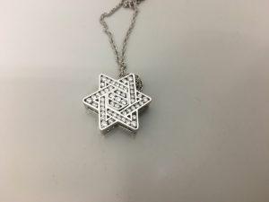 小さなダイヤモンドがたくさんついたネックレスを買取させていただいた大吉ブルメール舞多聞店です!