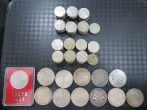 本日は東京オリンピックの1000円・100円銀貨をお買取りさせて頂きました。
