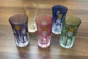 大吉 大阪エコールロゼ店では、江戸切子グラスを買取りました。