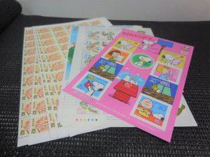190615記念切手シートもバラ切手も、大吉大橋店へ。