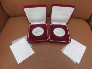 本日は純銀製の記念メダルをお買い取りさせていただきました。