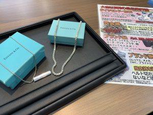ティファニー製のネックレス買取!シルバーネックレスでもブランド力でプラチナ製品クラスの買取価格実現!姶良市・買取専門店大吉タイヨー西加治木店です。