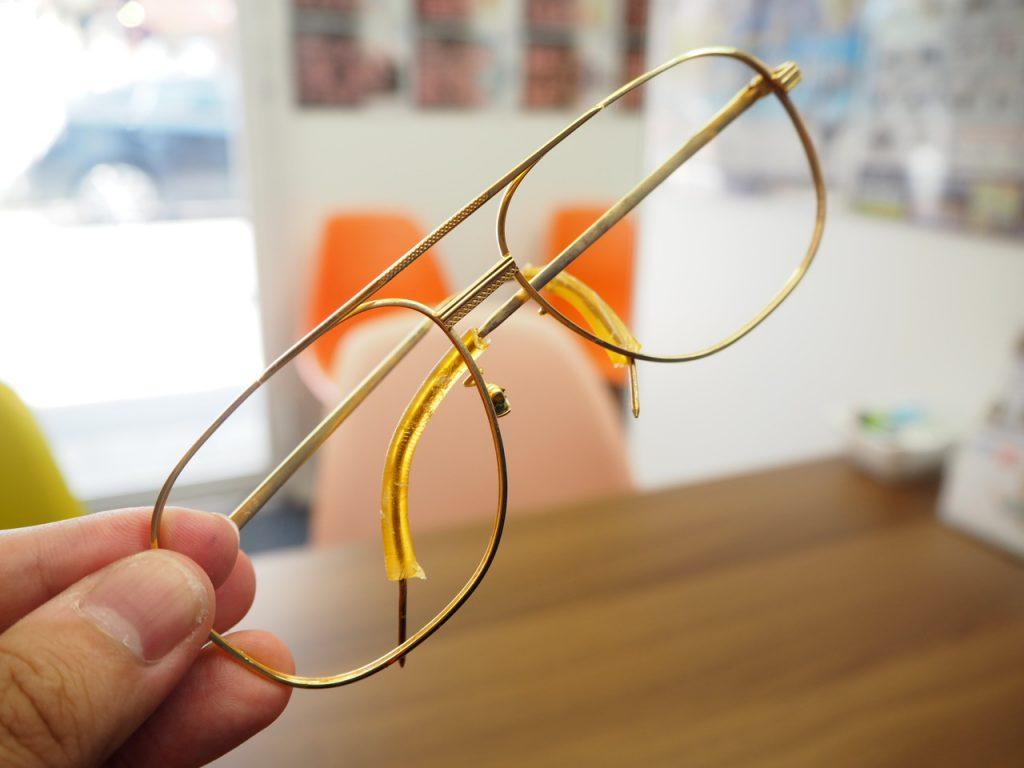 浜松市 買取 K18 眼鏡フレーム 貴金属