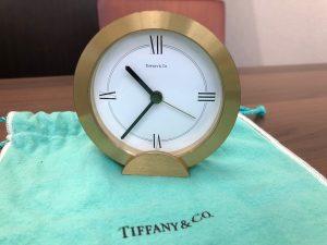 TIFFANY&Co. ゴールド クォーツ 置時計 テーブルクロック1