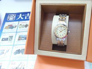 エルメスの腕時計 クリッパーをお買取!霧島市の買取専門店大吉霧島国分店は限界ギリギリまでは頑張ります。