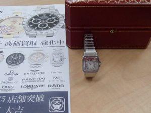 電池切れでもノープロブレム!カルティエの腕時計・サントスガルベをお買取!霧島市の買取専門店大吉霧島国分店です。