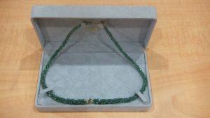 エメラルド107カラットのK18ネックレスをお買取りさせていただきました!宝石は大吉松江店へお任せください!