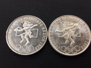 大吉 ゆめタウン筑紫野店ではメキシコオリンピック記念銀貨も高価買取!!