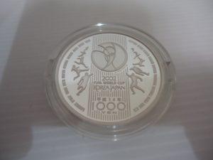 0216FIFAワールドカップ記念 1000円銀貨