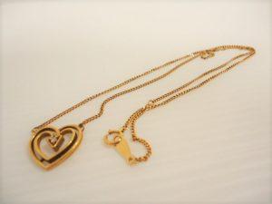 0317 装飾ダイヤ付き18金ネックレス