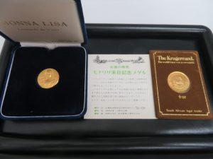 本日は貴金属 金貨・純金メダルをお買取りさせて頂きました。