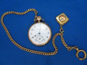 本日はアンティークな懐中時計をお買取りさせて頂きました。