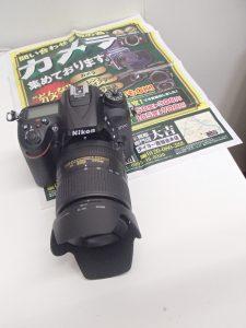 未使用級のニコンデジタル一眼レフカメラをお買取!最新デジカメでもフィルムカメラでも姶良市の買取専門店大吉タイヨー西加治木店におまかせ!
