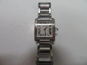 カルティエダンクフランセーズ腕時計をお買取りさせて頂きました。